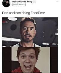 Peter Parker Meme Face - tony stark peter parker facetime meme quirkybyte