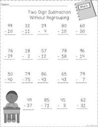 two digit subtraction w o regrouping addition subraction