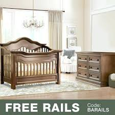 baby 2 piece nursery set convertible crib and double dresser in