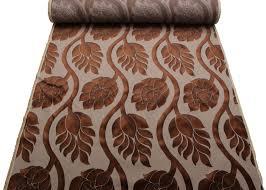 Velvet Chenille Upholstery Fabric Two Tone Multi Coloured Raised Large Floral Cut Velvet Upholstery