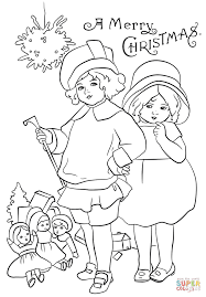 victorian christmas card coloring page free printable coloring pages