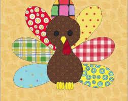 Thanksgiving Appliques Turkey Applique Etsy