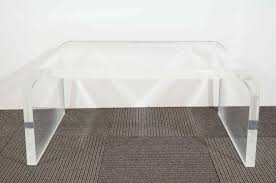 lucite waterfall coffee table coffee table waterfall coffee table lucite acrylic tablemarble
