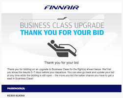 Get A Business Email by How To Bid For A Business Class Upgrade With Finnair