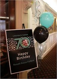 Decorations For 70th Birthday Party