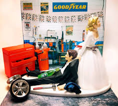 mechanic cake topper wedding caketopper auto mechanic and groom custom