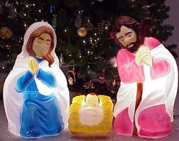 Christmas Outdoor Decorations Plastic by Outdoor Lighted Nativity Set Scene Scenes General Foam Plastics