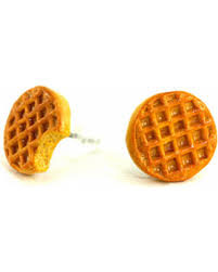 food earrings new savings on waffle earrings earrings things