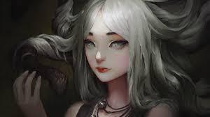 white eye white hair medusa snake greek mythology