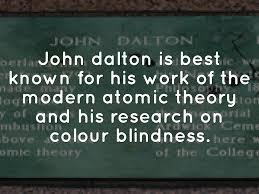 Was John Dalton Color Blind John Dalton By Hanna Grace