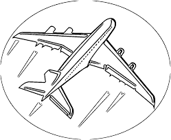 airplane circle sign coloring page wecoloringpage