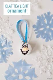 turn a tea light into this adorable olaf ornament ezy blogs