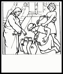 water into wine coloring page coloring home