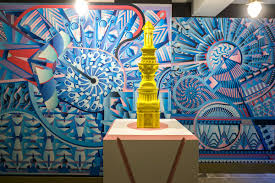 grand tourism ribaj adam nathaniel furman designed two murals to form the backdrop to his 3d printed pasteeshio