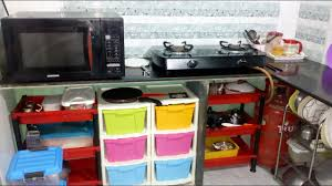How To Organize Kitchen Cabinet by Kitchen Tour Small Indian Kitchen Organize Kitchen Without