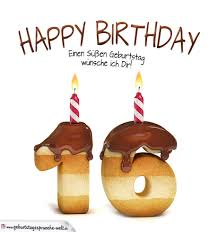 geburtstagsspr che zum 16 happy birthday in keksschrift zum 16 geburtstag