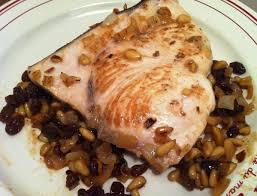 poisson a cuisiner espadon aux raisins et aux pignons envie de cuisiner