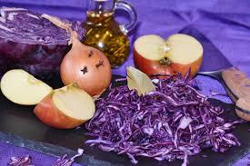 cuisine en violet ร ปภาพ แอปเป ล ดอกไม จาน ม ออาหาร ผล ต คร ว ส น ำเง น ม
