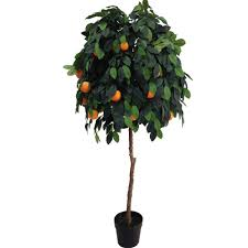 artificial orange tree from evergreen direct