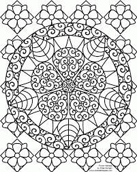 hard coloring pages flowers chuckbutt