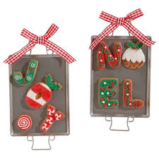 gingerbread cookies on baking sheet ornaments