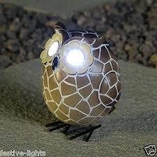 novelty garden ornaments solar powered white led novelty owl animal