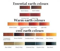 essential earth colours for art science of colour