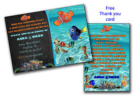 finding nemo baby shower invitation finding dory boy
