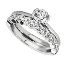 wedding ring set images of wedding rings sets rub engagement ring with
