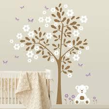 tree sticker wall art shenra com simple tree with teddy bear wall sticker by wall art