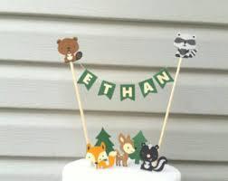 woodland cake toppers woodland cake topper etsy
