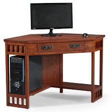 Oak Corner Computer Desk Leick Corner Computer And Writing Desk Mission Oak