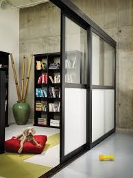 sliding glass room dividers frosted