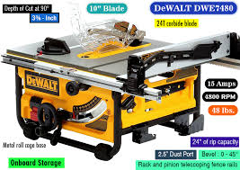 dewalt table saw rip fence extension dewalt dwe7480 a sturdy affordable dewalt portable table saw