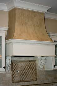 Kitchen Island With Corbels Custom Curved Drywall Range Hood With Faux Finish With Cabinet
