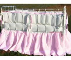 Crib Bedding Set With Bumper Two Tone Crib Bedding Set Peach Bumper With Flange Gathered