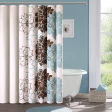 captivating blue bathroom decoration using light blue brown flower