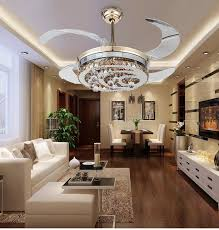 Aliexpresscom  Buy Modern Stealth Crystal Ceiling Fan Lights LED - Dining room ceiling fans
