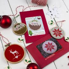 cute christmas pudding ornament cross stitch kit u2013 the bellwether