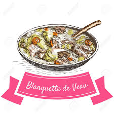cuisine blanquette de veau blanquette de veau colorful illustration vector illustration