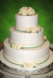 rose garden wedding cake except with all white cream colored