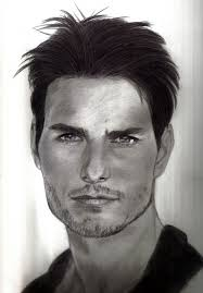 portrait of tom cruise by roger on stars portraits