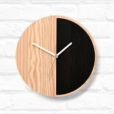 half wooden wall clock wooden walls wall clocks and clocks