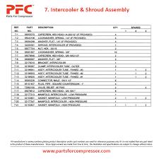 09 07 intercooler u0026 shroud assembly for 7100 ir 7100 parts