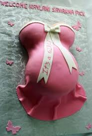 pregnant belly baby shower cake in pink butterflies kaylani