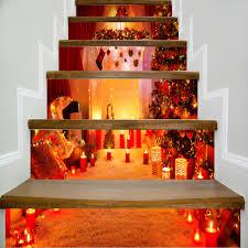wholesale dsu fireplace with christmas tree style stair sticker