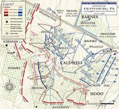 Gettysburg Pennsylvania Map by Gettysburg Confederates Sweep The Wheatfield Civil War Trust