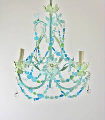 Sea Glass Chandelier Sea Glass Lighting Fixture Chandelier Beach Cottage Chic