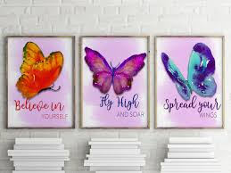 butterfly ink designs watercolor butterfly prints set of 3