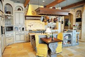 French Country Kitchens by Kitchen French Kitchen With Country Interior Also Floral Drapes